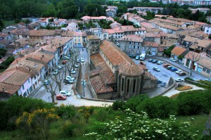 It is a fortified French town in the Aude department.
